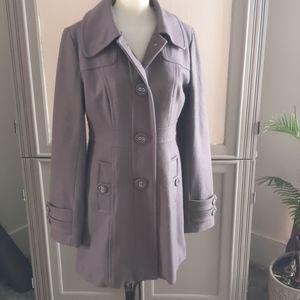 Tailored Wool coat EUC barely worn L